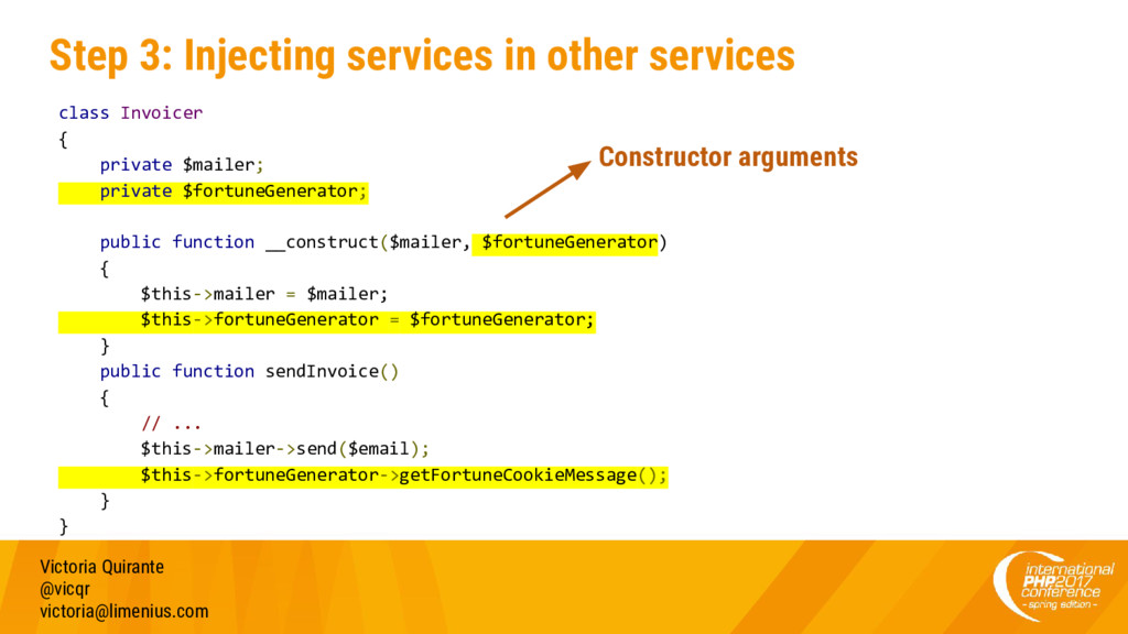 Step 3: Injecting services in other services Vi...