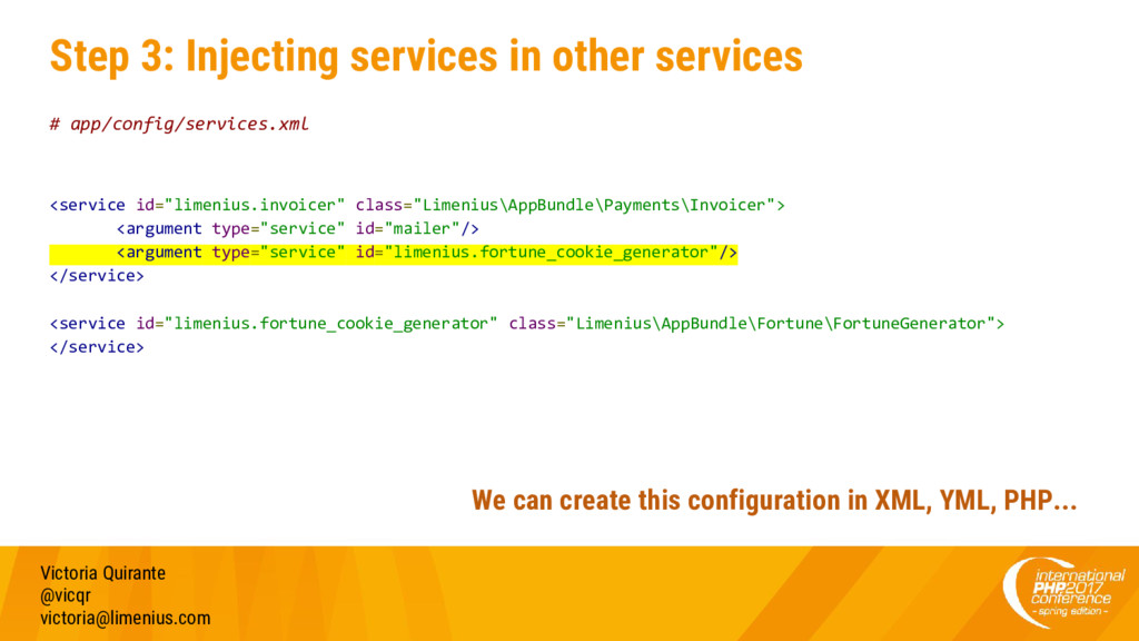 Step 3: Injecting services in other services # ...