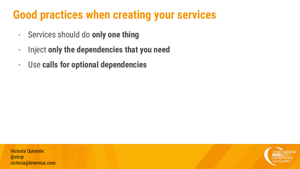 Good practices when creating your services - Se...