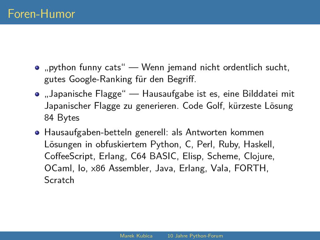 "Foren-Humor ""python funny cats"" — Wenn jemand n..."