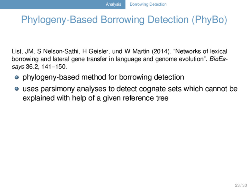 Analysis Borrowing Detection Phylogeny-Based Bo...