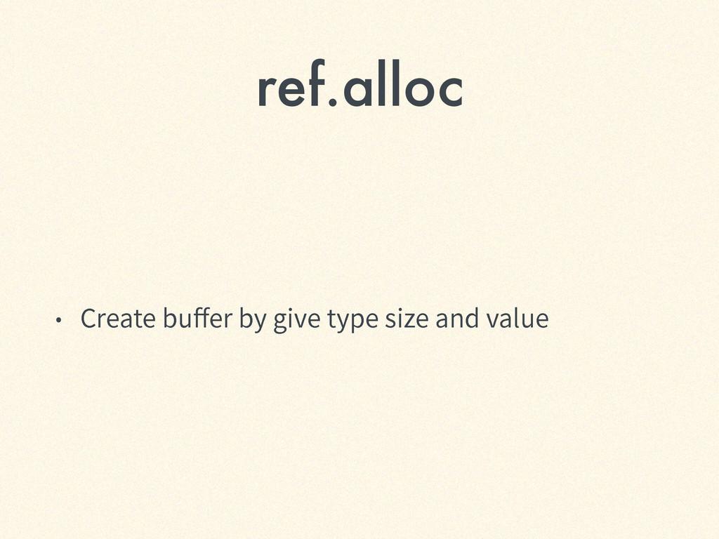 ref.alloc ˖ $SFBUFCVFSCZHJWFUZQFTJ[FBOE...