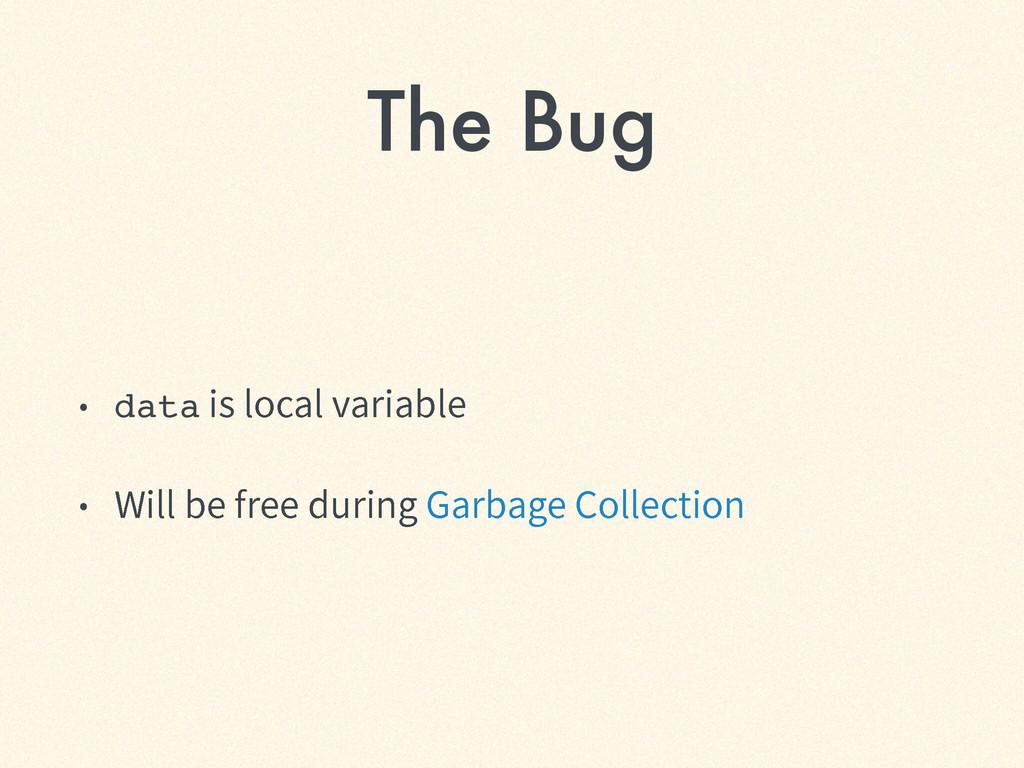 The Bug ˖ dataJTMPDBMWBSJBCMF ˖ 8JMMCFGSF...