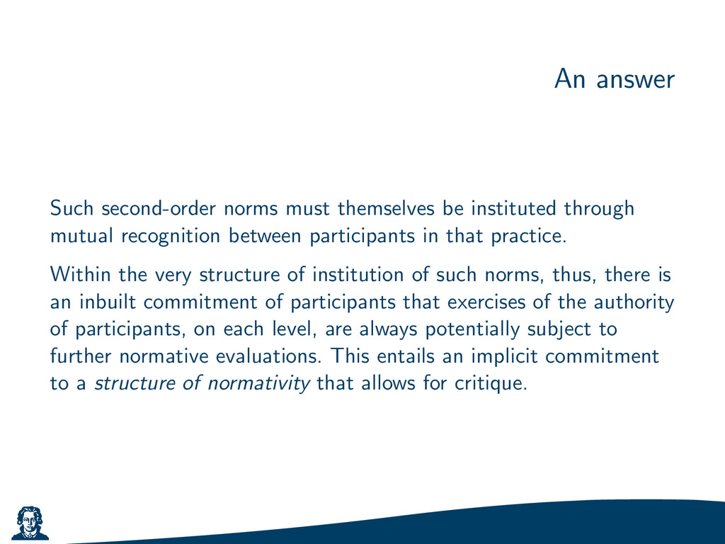 An answer Such second-order norms must themselv...