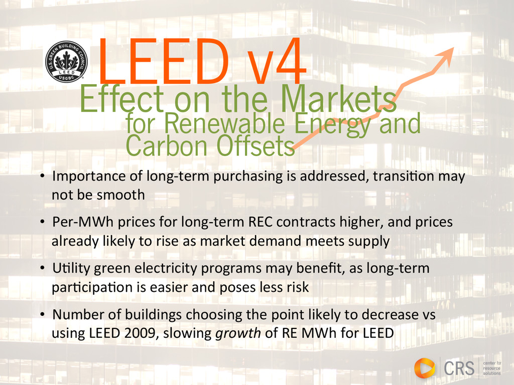 LEED v4 Effect on the Markets for Renewable Ene...