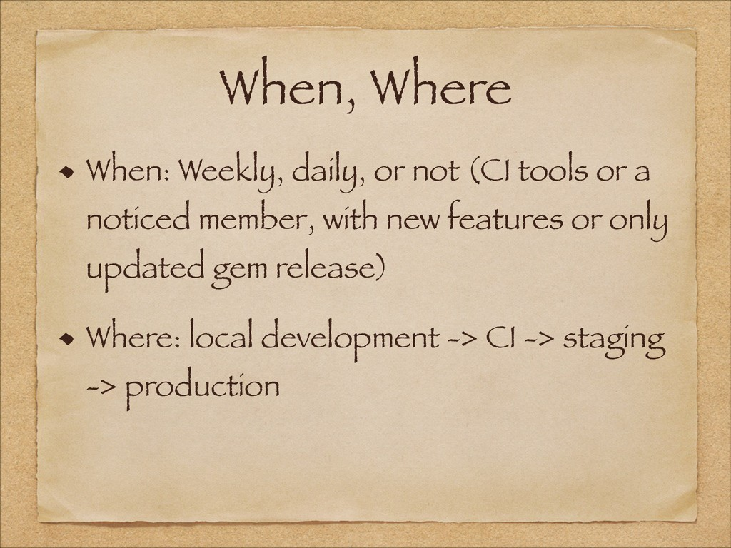 When, Where When: Weekly, daily, or not (CI too...