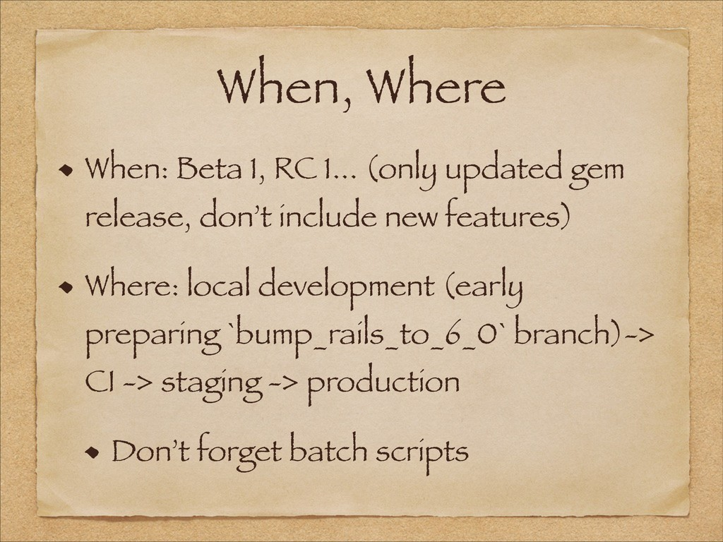 When, Where When: Beta 1, RC 1... (only updated...