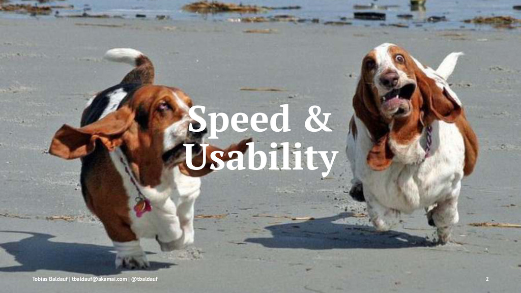 Speed & Usability Tobias Baldauf | tbaldauf@aka...