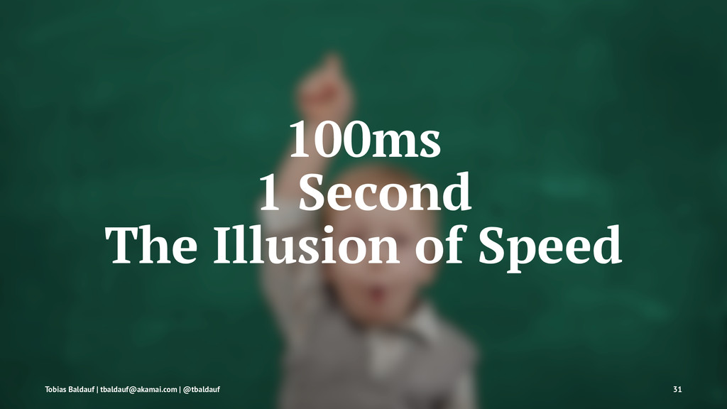 100ms 1 Second The Illusion of Speed Tobias Bal...