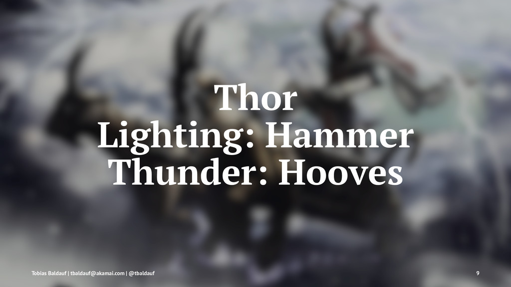 Thor Lighting: Hammer Thunder: Hooves Tobias Ba...