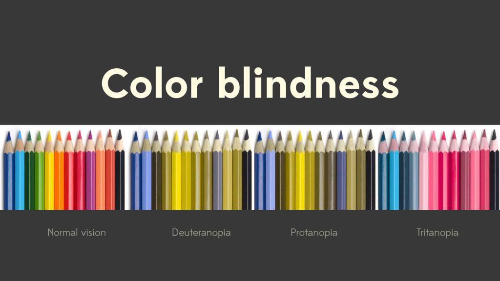 Color blindness Normal vision Deuteranopia Prot...