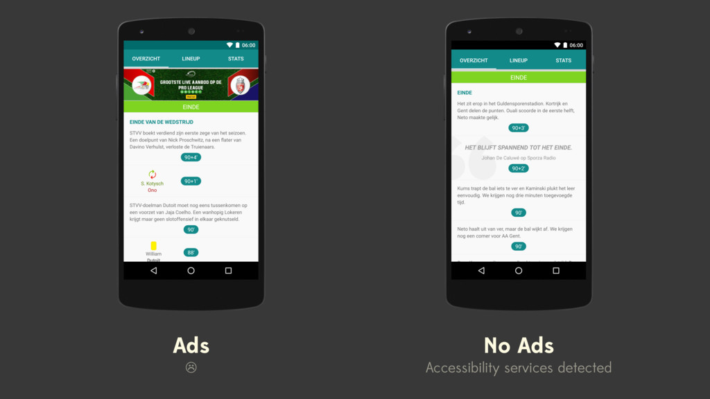 Ads ☹ No Ads Accessibility services detected