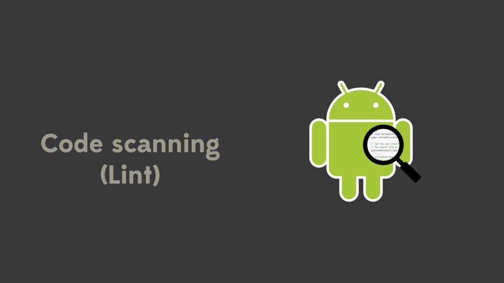 Code scanning (Lint)