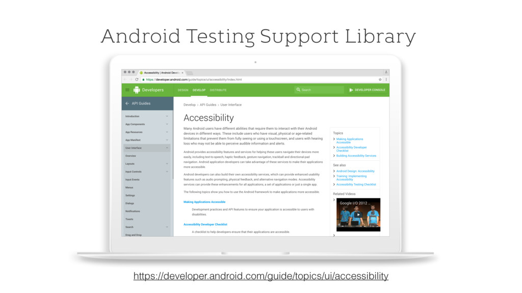 Android Testing Support Library https://develop...