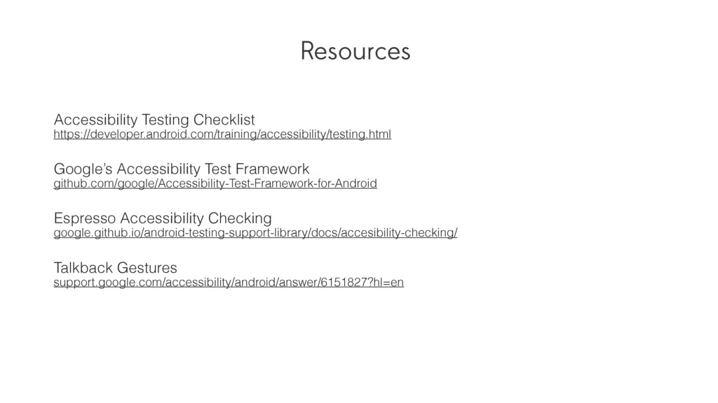 Resources Accessibility Testing Checklist https...