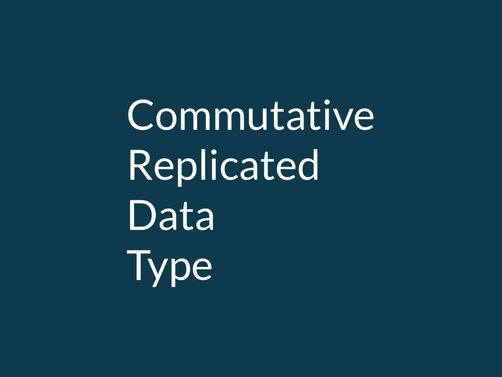 Commutative