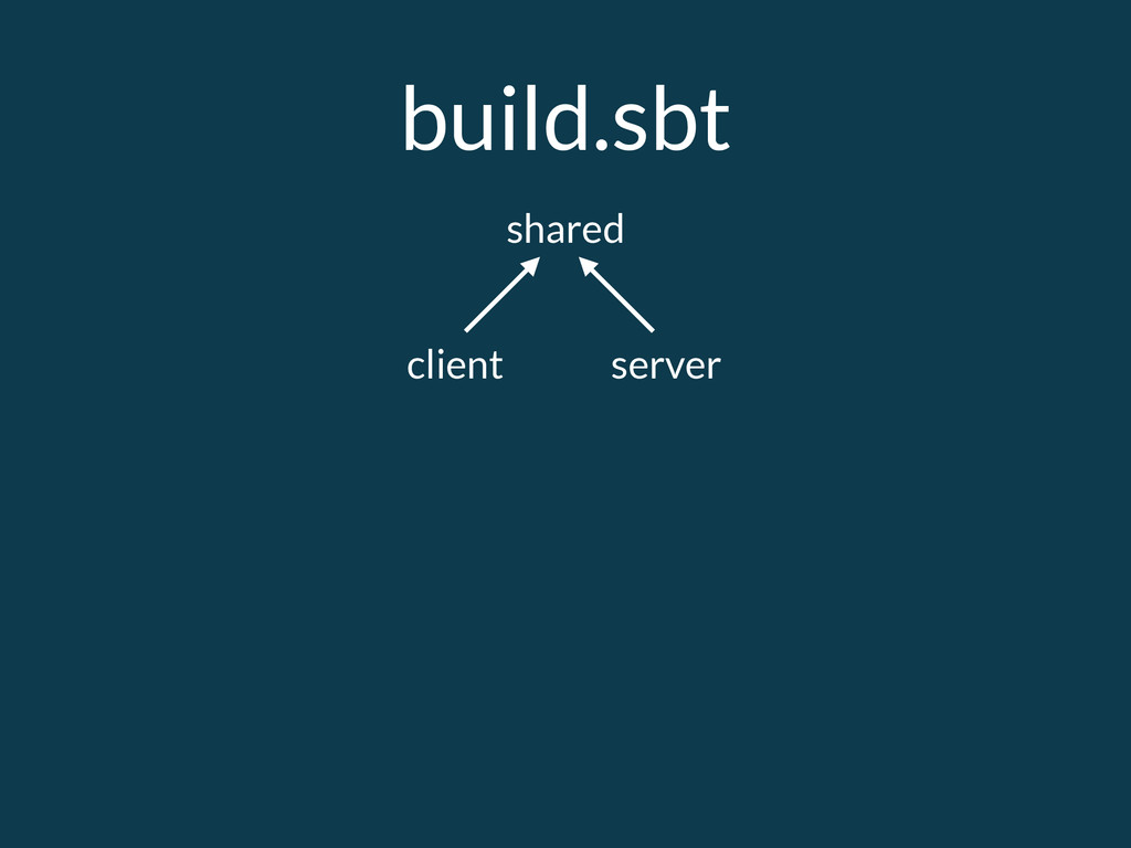 build.sbt shared client server