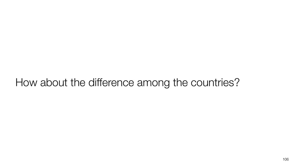 106 How about the difference among the countrie...