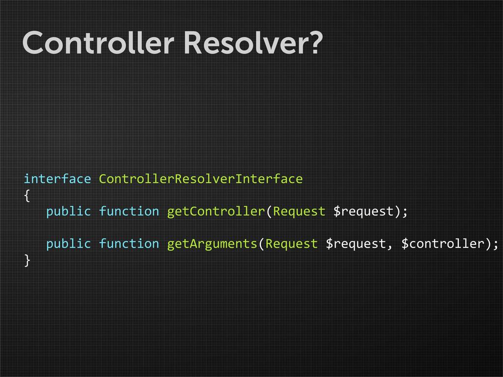 Controller Resolver? interface ControllerRes...