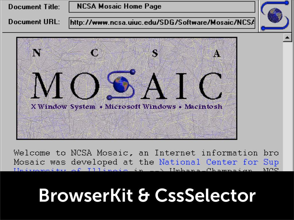 BrowserKit & CssSelector