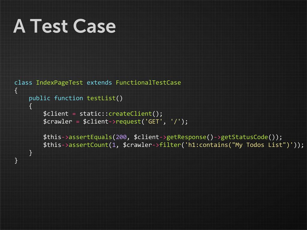 A Test Case class IndexPageTest extends...