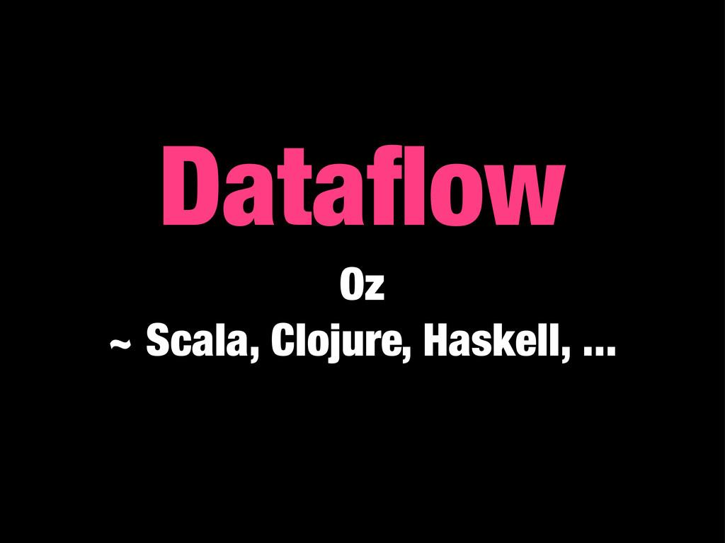 Dataflow Oz ~ Scala, Clojure, Haskell, ...
