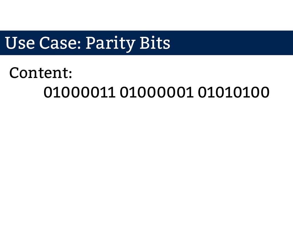 01000011 01000001 01010100 Content: Use Case: P...