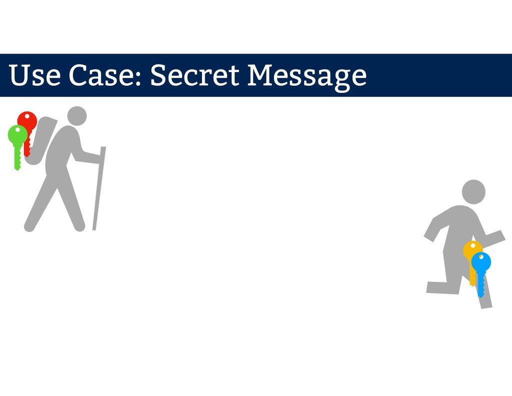 Mr. A Mr. B Use Case: Secret Message