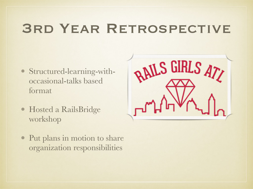 3rd Year Retrospective • Structured-learning-wi...
