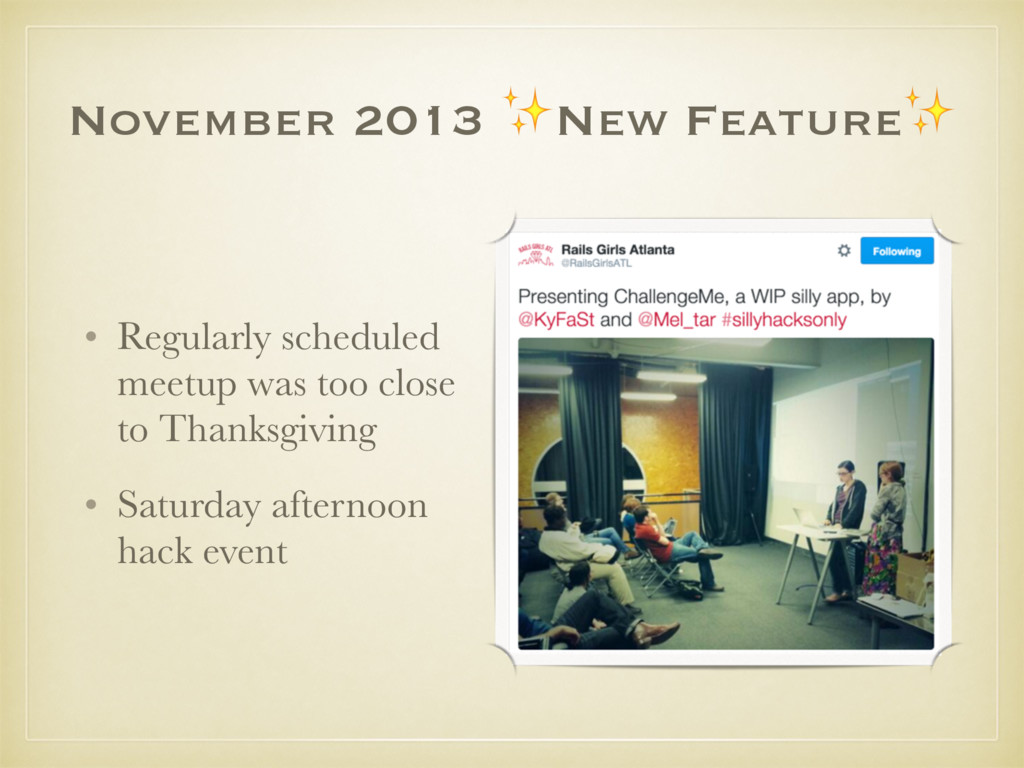 November 2013 ✨New Feature✨ • Regularly schedul...