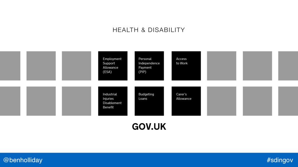 @benholliday #sdingov GOV.UK HEALTH & DISABILIT...