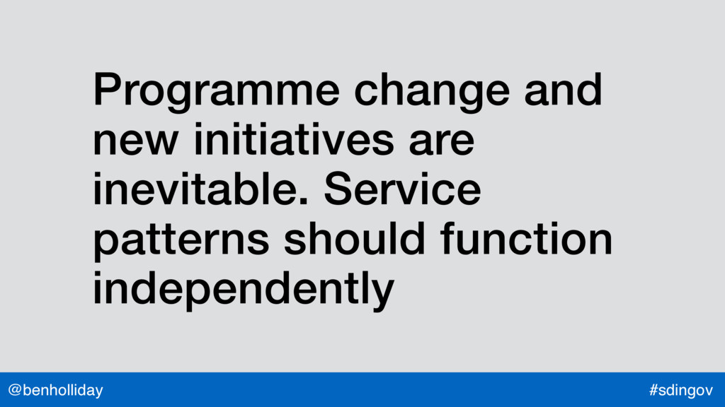 @benholliday #sdingov Programme change and new ...