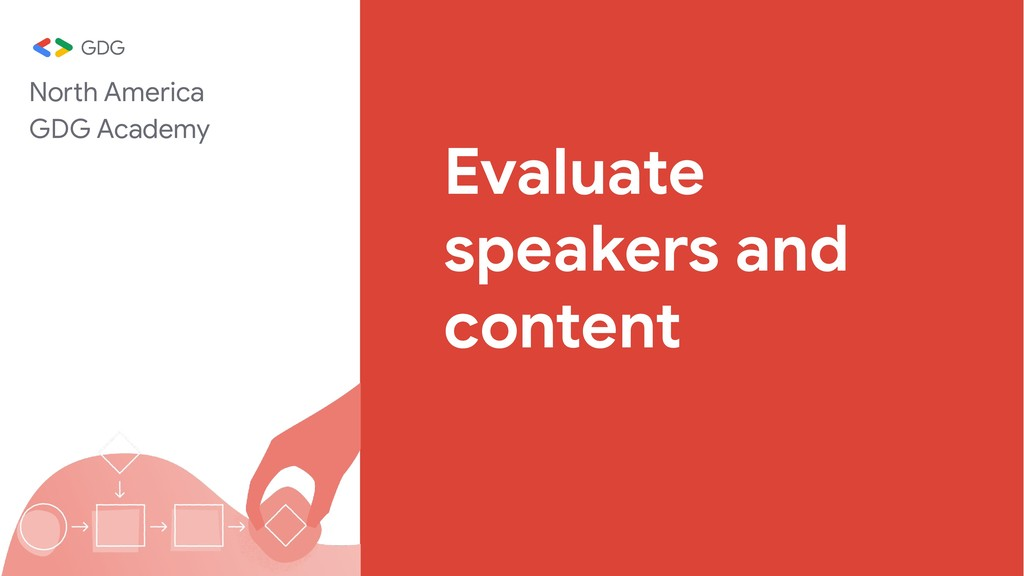 Evaluate speakers and content North America GDG...