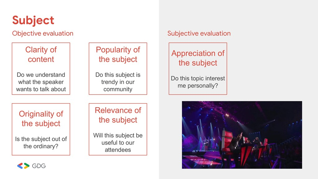Subject Objective evaluation Subjective evaluat...