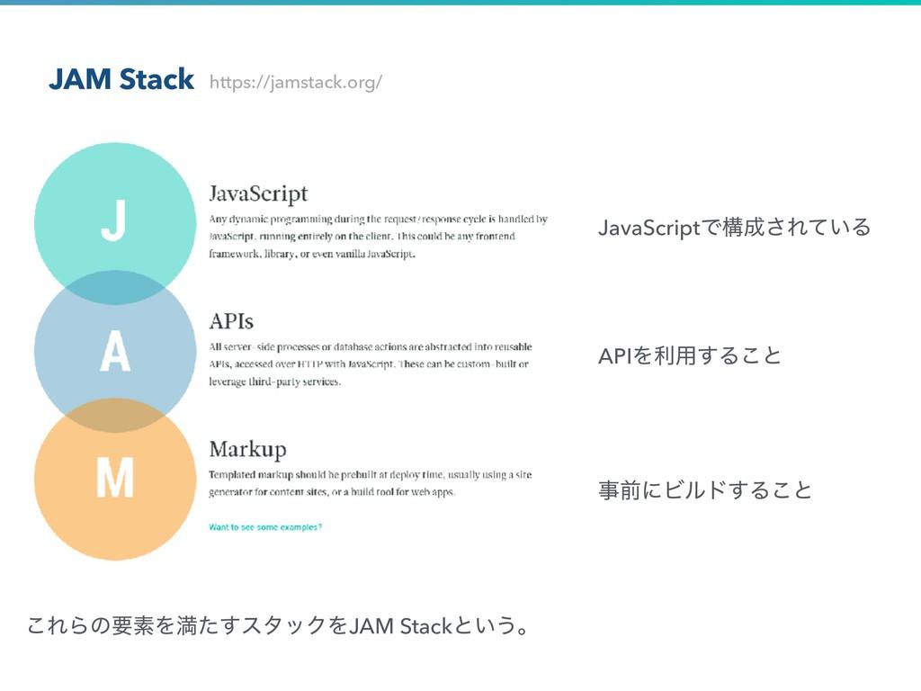 JAM Stack ͜ΕΒͷཁૉΛຬͨ͢ελοΫΛJAM Stackͱ͍͏ɻ https://...