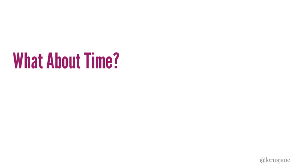 What About Time? @lornajane
