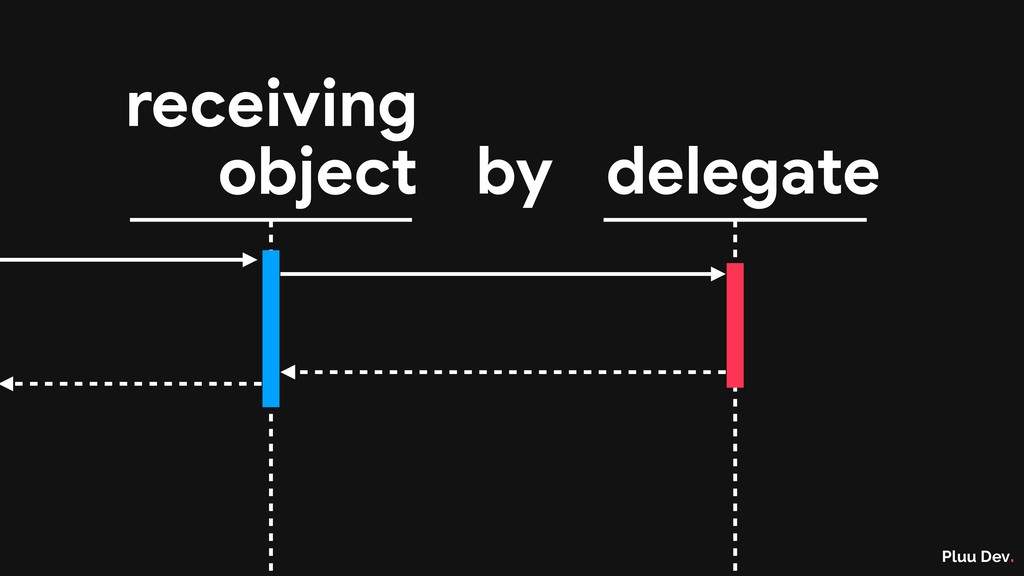 Pluu Dev. by delegate receiving object