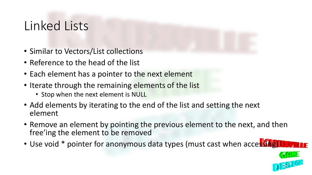 Linked Lists • Similar to Vectors/List collecti...