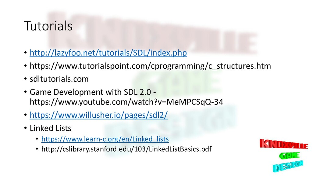 Tutorials • http://lazyfoo.net/tutorials/SDL/in...