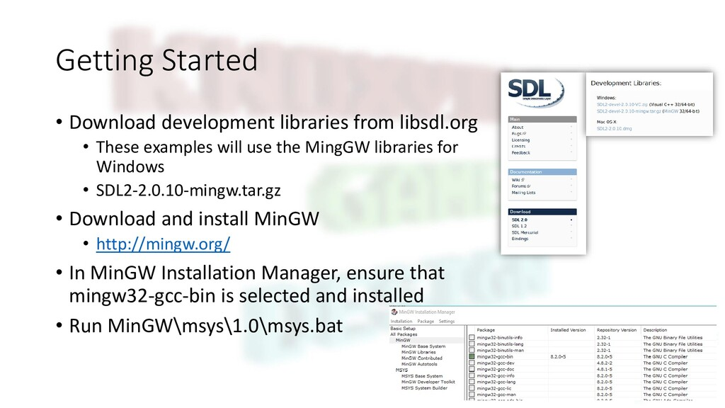 Getting Started • Download development librarie...