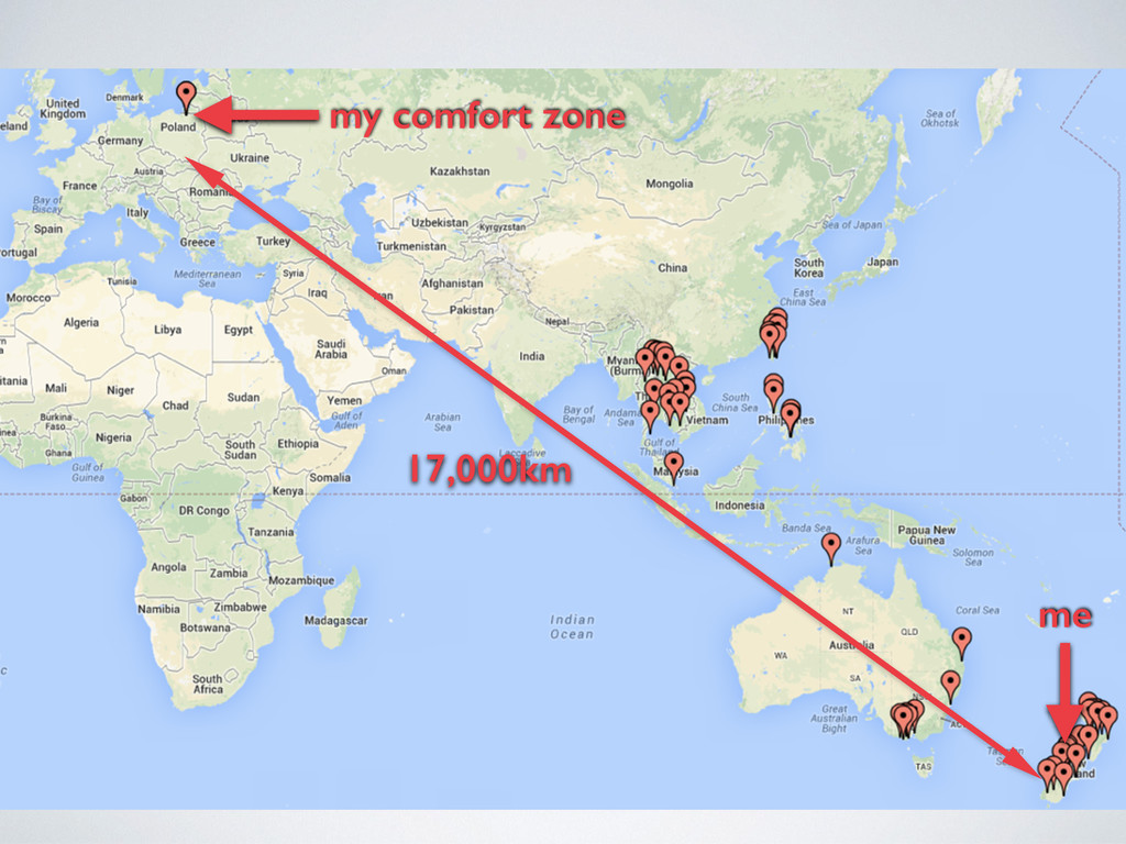 my comfort zone me 17,000km