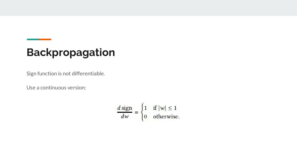 Backpropagation Sign function is not differenti...