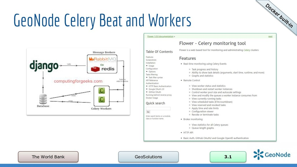 GeoNode Celery Beat and Workers The World Bank ...