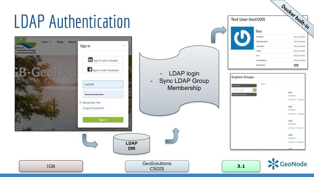 LDAP Authentication IGB GeoSolutions CSGIS 3.1 ...