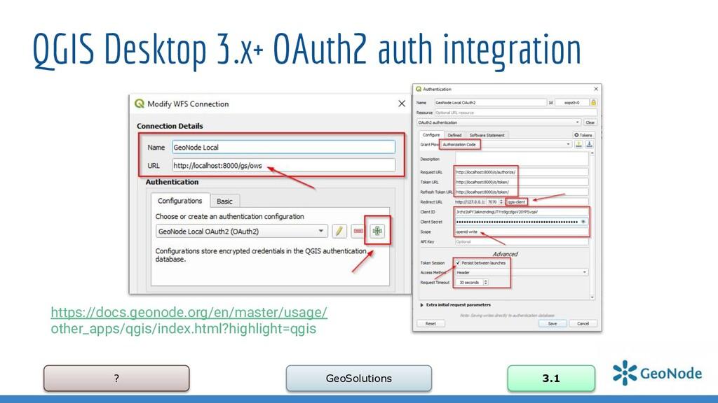 ? GeoSolutions 3.1 QGIS Desktop 3.x+ OAuth2 aut...