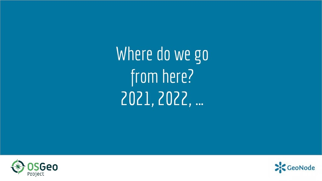 Where do we go from here? 2021, 2022, …