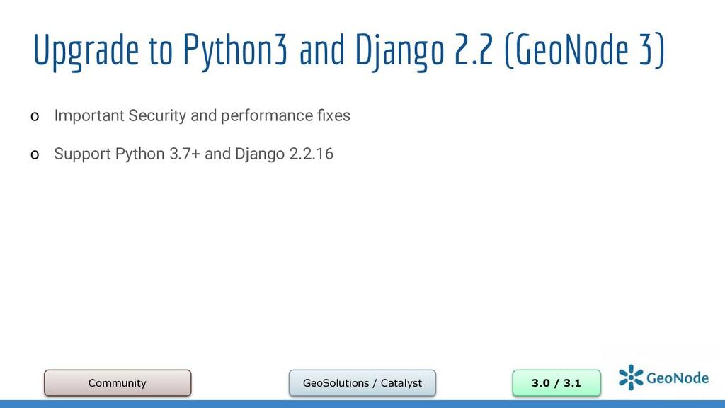 Upgrade to Python3 and Django 2.2 (GeoNode 3) o...