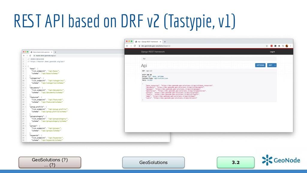 REST API based on DRF v2 (Tastypie, v1) GeoSolu...