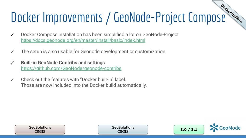Docker Improvements / GeoNode-Project Compose G...