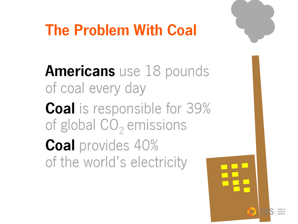 The Problem With Coal Americans use 18 pounds o...